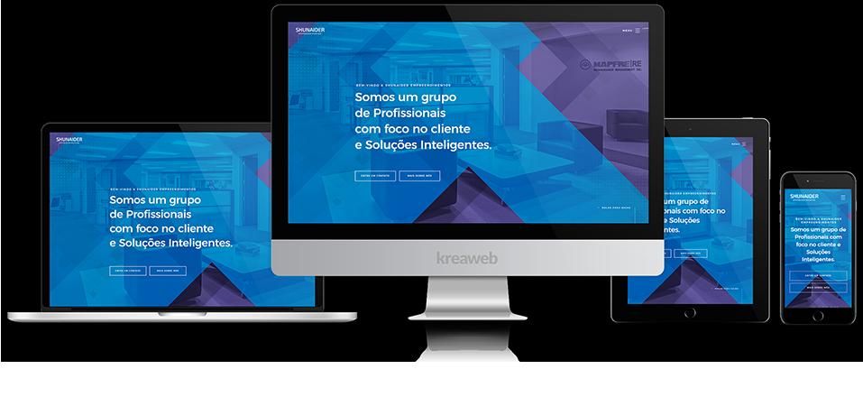 criação de site responsivo shunaider empreendimentos agencia de sites web designer criação de sites marketing digital